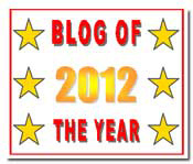blog of the year 2012 award