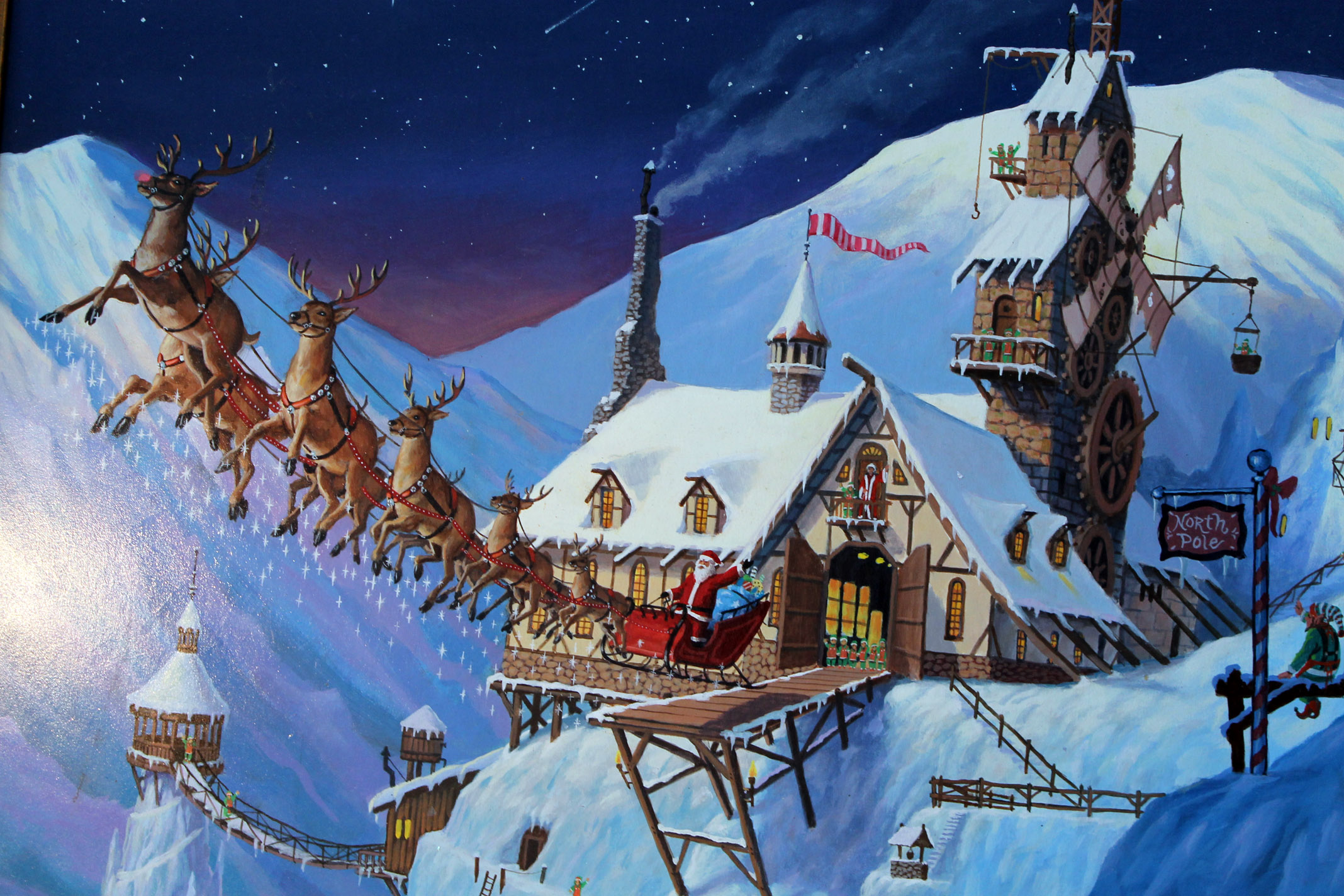 Santas Village Google Santa Tracker >> Merry Christmas to all, and to all a Good night... on ...