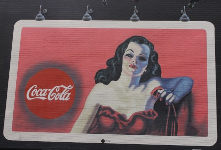 COKE BILLBOARD IN OAKLAND NEIGHBORHOOD OF PITTSBURGH