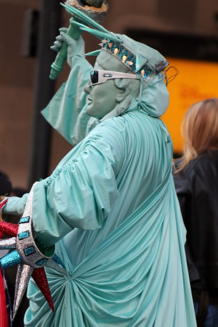 Walking Statue of Liberty