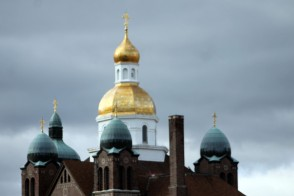 Golden onion domes rise above South Side, a traditionally Ukrainian area of town.